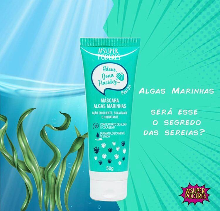Máscara Peel Off Algas Marinhas Super Poderes